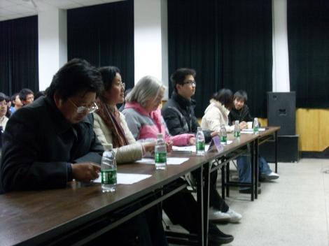Judging English speaking contest-2009